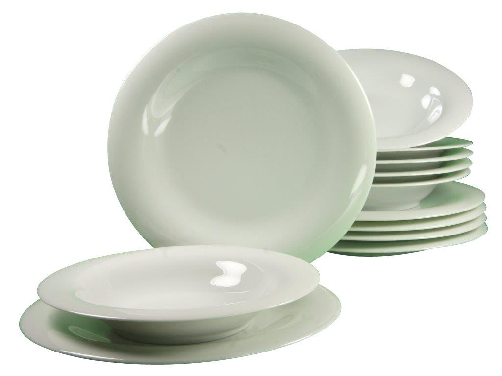 Wohnen Gut Und Gunstig Tafelservice Soft Kombiservice Tafelservice Tafelservice Soft Weisses Porzellan 12 Teilig